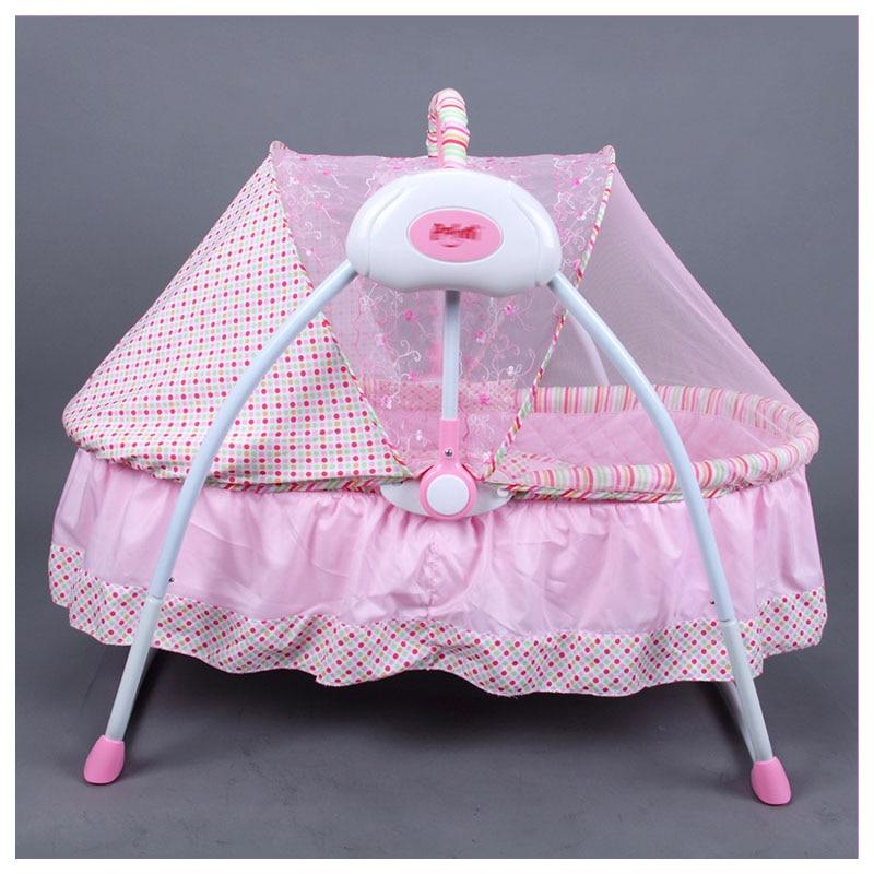 Multi-fonction bébé berceau électrique nouveau-né Portable pliable berceau à bascule lit électrique nouveau-né berceau balançoire lit réglable 0 ~ 6 M