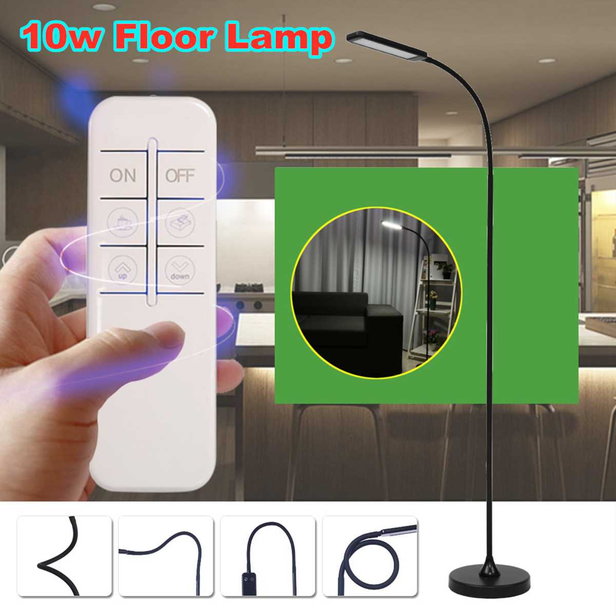 Dimmable LED Floor Lamp Light Remote Control Reading Night Lamp Adjustable Home Office Decoration Indoor Lighting FixtureDimmable LED Floor Lamp Light Remote Control Reading Night Lamp Adjustable Home Office Decoration Indoor Lighting Fixture