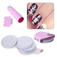CLAVUZ Manicure 24pcs Tamp Holder Image Plates Stamper Template Set Nail Art Stamping Plate