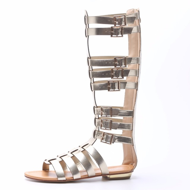 bb098fe174b3ff TIMETANG 2018 Summer New Fashion Street Style Open Toe Comfort Flat Roman  Sandals Boots Gladiator Candy Color Personality Boots