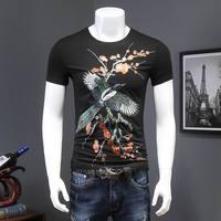 New Arrival Summer Men T Shirts Creative Cotton Men T Shirt Streetwear O Neck Print Bird