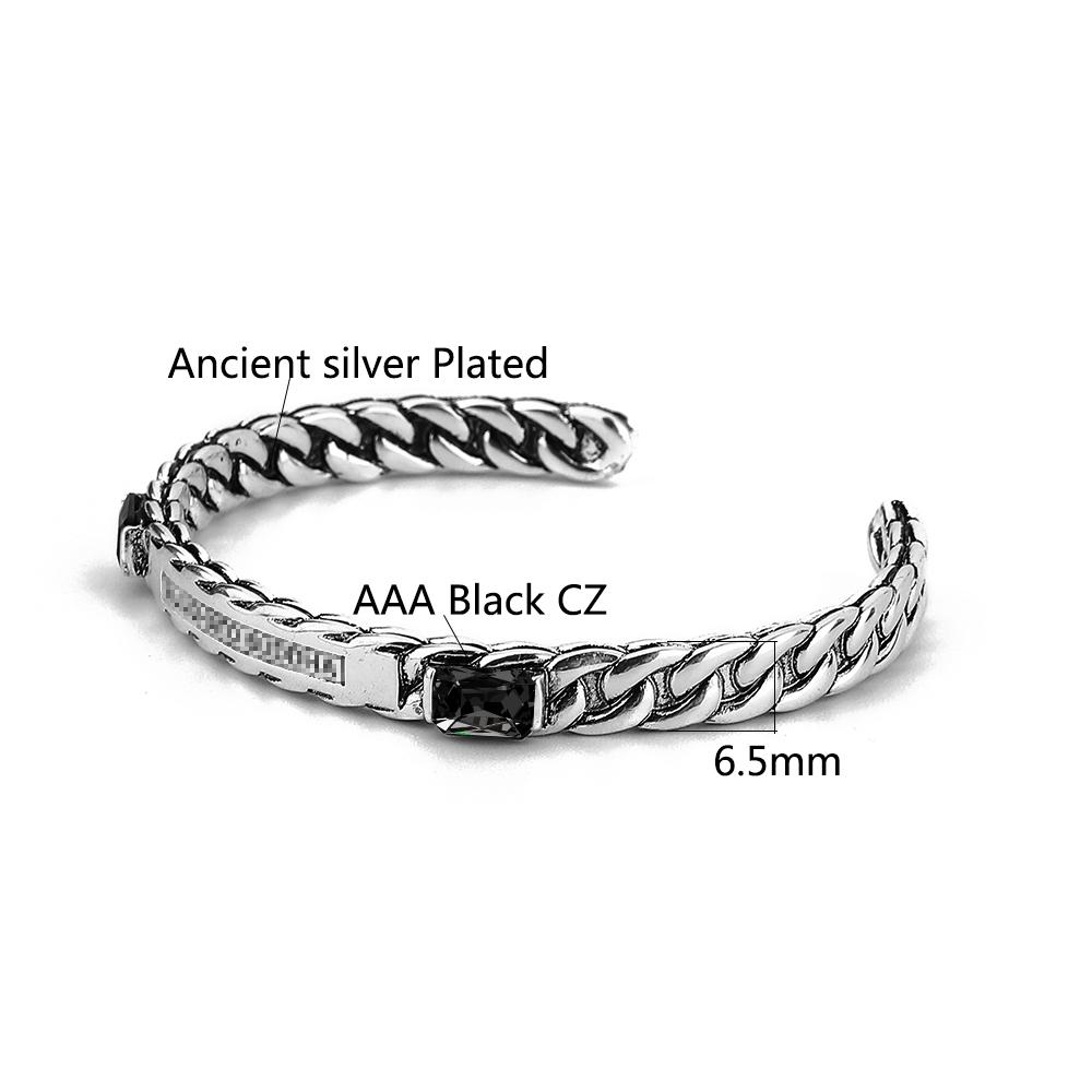 Регулируемые открытые серебряные браслеты Будды и мужские манжеты
