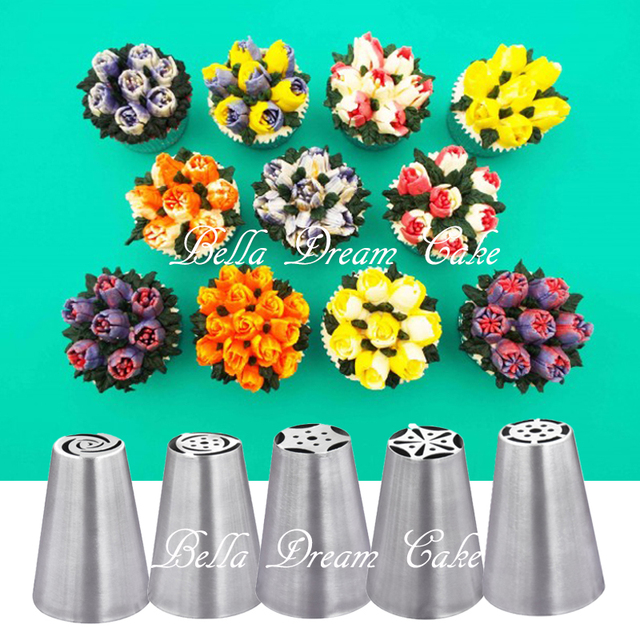 Russian Tulip Stainless Icing Piping Nozzles Cake ...