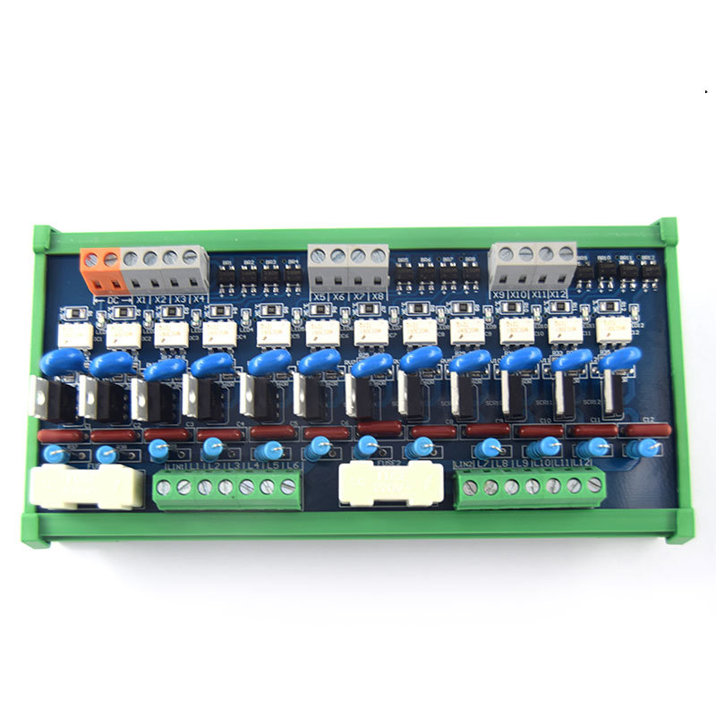 12-channel PLC AC amplifier board, output, board Original thyristor, optocoupler isolation board relay board 8 channels plc extender board io protective optocoupler relay module board