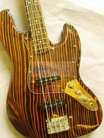 Free shipping, shops opened buy  surprise gift. Zebra wood electric bass,Tone is very good. Feel comfortable, fine workmanship,