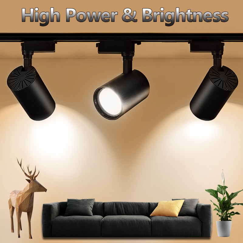 Showcase Black Led Track Light Luminaria Bar Exhibition Room Led Iron Ceiling Picture Light Exclusive Store Advertise Spotlight Attractive Fashion Lights & Lighting Ceiling Lights