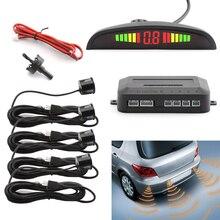4 Sensors Buzzer Car Parking Sensor Kit Reverse Backup Radar Sound Alert
