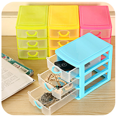 Hot New mini drawer storage box cosmetics receive office desktop