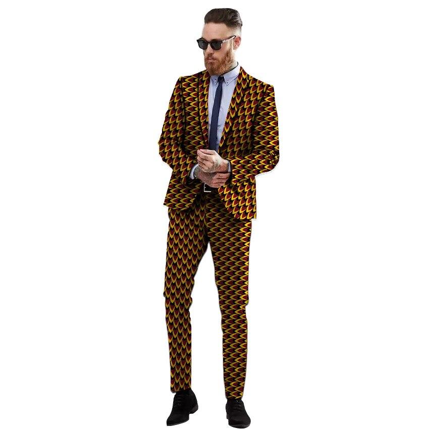 Grande taille commande personnalisée hommes pantalons costumes pour mariage africain homme tenues décontracté hommes robe costumes 2 peiece veste + pantalon