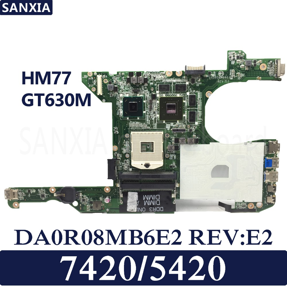 KEFU DA0R08MB6E2 REV E2 Laptop motherboard for Dell 5420 7420 Test original mainboard HM77 GT630M