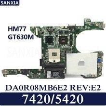 KEFU DA0R08MB6E2 REV:E2 Laptop motherboard for Dell 5420 7420 Test original mainboard HM77 GT630M for dell inspiron 5420 kd0cc 0kd0cc cn 0kd0cc da0r08mb6e2 pga989 hm77 ddr3 laptop motherboard mainboard tested