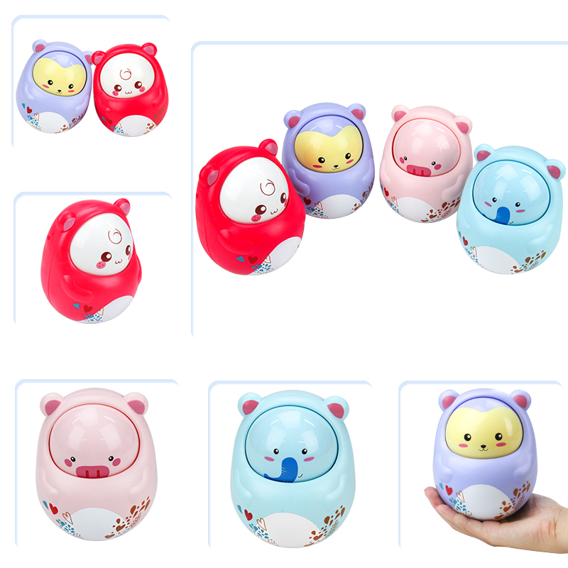 Tumbler Toy For Kids Cute Sound Animals Toy Novelty Nodding Puzzle Educational Plaything