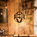 Nordic Creative Loft Industrial Retro Round Iron Chandelier Bar Warehouse Restaurant Decorative Chandelier Free Shipping