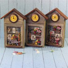 Creative Mural Wall Decoration Clock Key Storage Boxes Crafts Furnishing Handicraft Key Storage Box Home Decoration Ornaments