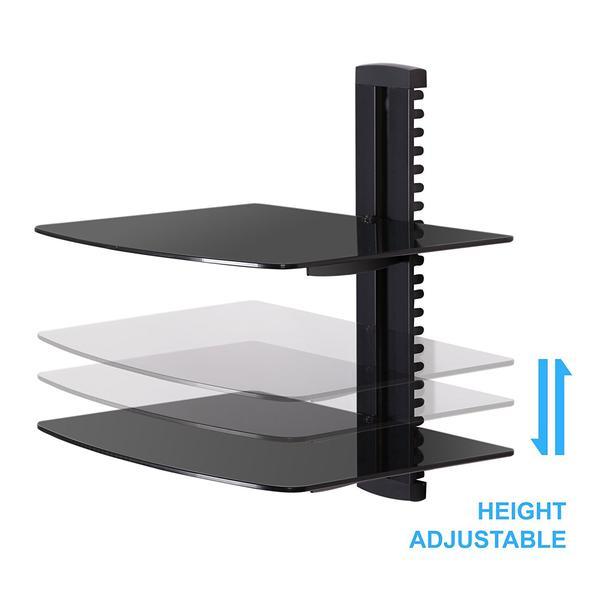Bekend Fitueyes gehard glas zwart 2 Tiers drijvende planken Av Plank JP96