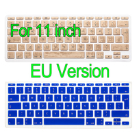 For Apple Macbook Air 11 Inch Waterproof Keyboard Sticker Protector UK EU Skin Silicone Laptop Cover