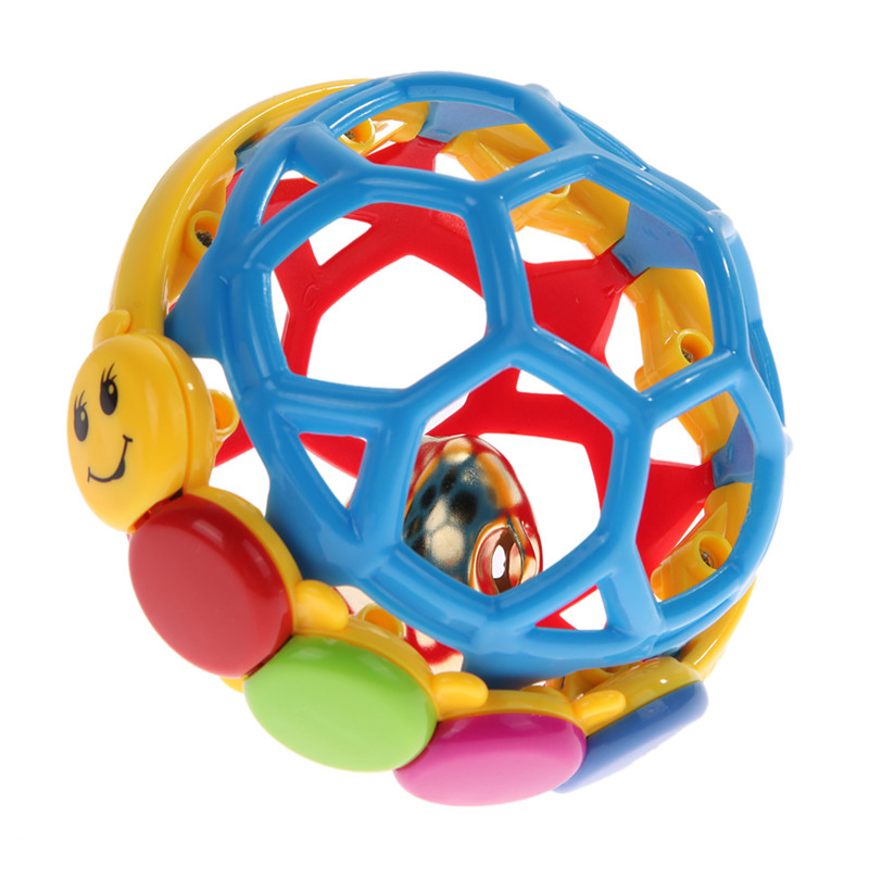 Plastic Baby Buzz Ball Bendy Baby Walker Rattles Prewalker Bouncing Ball Toddlers ABS Handbell  Fun Multicolor Activity Grasping