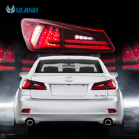 VLAND Fit Lexus IS250/IS300/IS350 2006 2012 Tail light Led Design Red Lens Taillight Assembly Rear Lamp