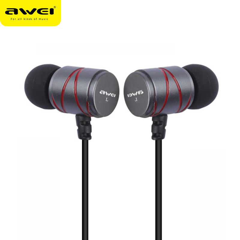 AWEI Steelseries Q5I Metal Stereo Earphone Super Bass Headset Gaming Sport DJ Earpods Earbuds For Sony Apple Phones Computer