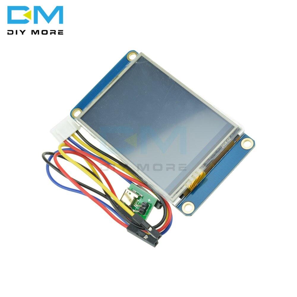 """2.4 """"Nextion HMI Intelligent Intelligent USART UART série tactile TFT LCD Module panneau d'affichage pour framboise Pi 2 A + B + pour Arduino"""