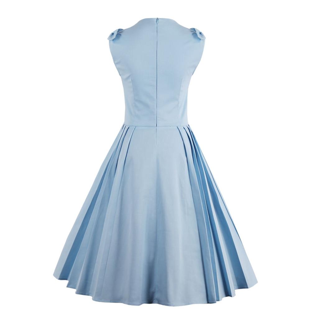 Summer Dress 2017 Women Vintage Retro Dress Hepburn Garden Party ...