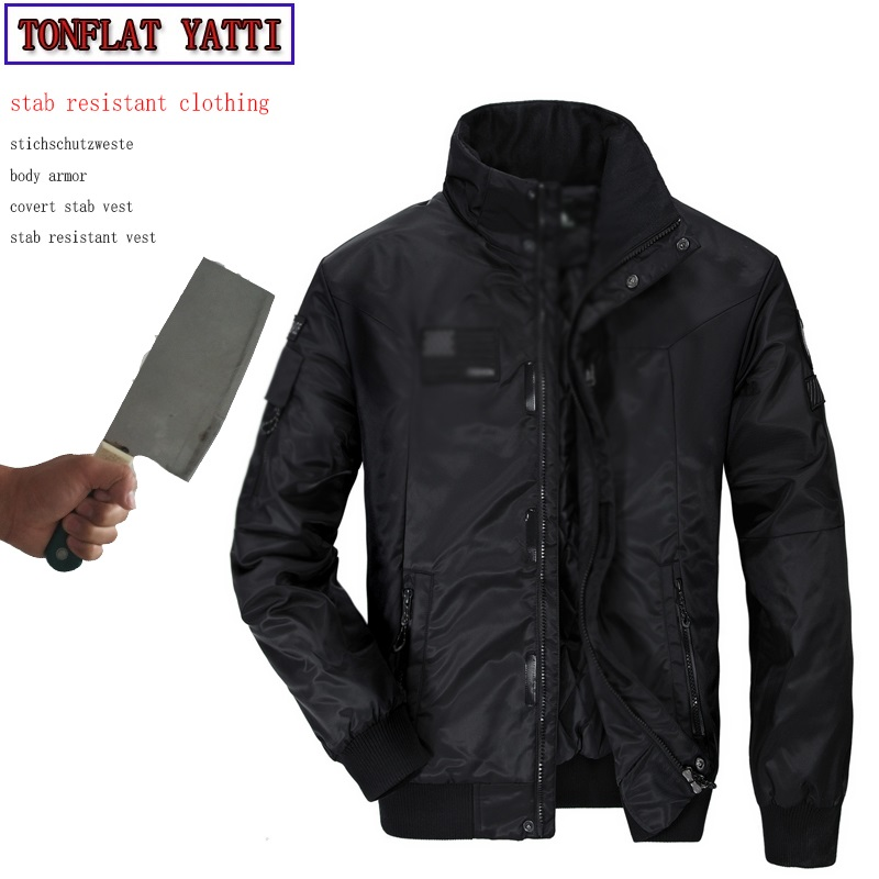 Self-Defense Tactical Anti-stab Cut Imitation Pilot Jacket Military Swat Defensa Personal Leisure Protective Clothing 2 Colour