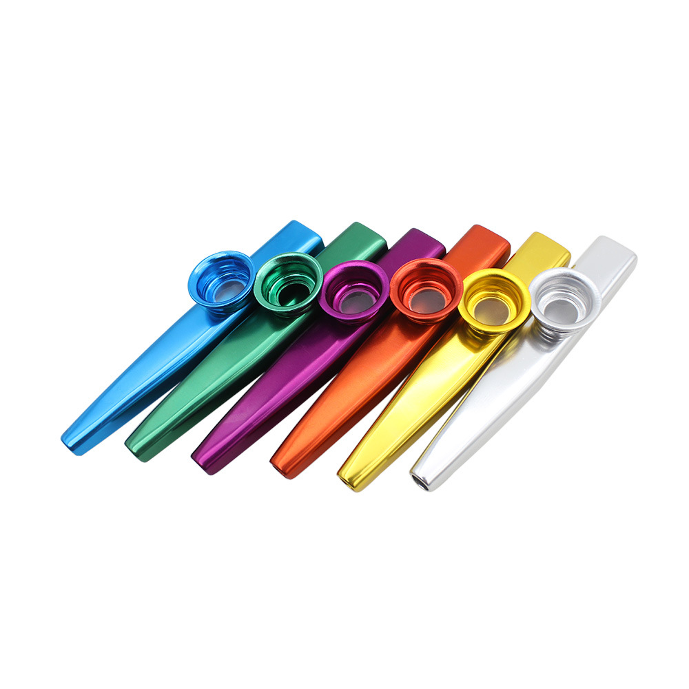 SEWS-Set of 6 Colors Metal Kazoo Musical Instruments Good Companion for A Guitar Ukulele Great Gift for Kids Music Lovers