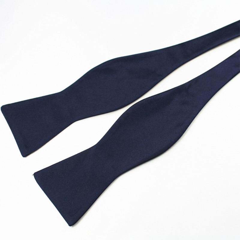 RBOCOTT Dasi kupu-kupu Diri Dasi pria Mode Warna Solid Bowtie - Aksesori pakaian - Foto 2