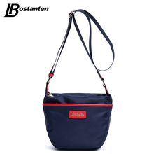 Bostanten Crossbody Bags For Women Nylon Saddle-sahped Fashion Casual Blue Top Zipper Ladies Small Shoulder Bags Weekend Bag