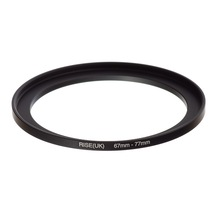 original RISE(UK) 67mm-77mm 67-77mm 67 to 77 Step Up Ring Filter Adapter black