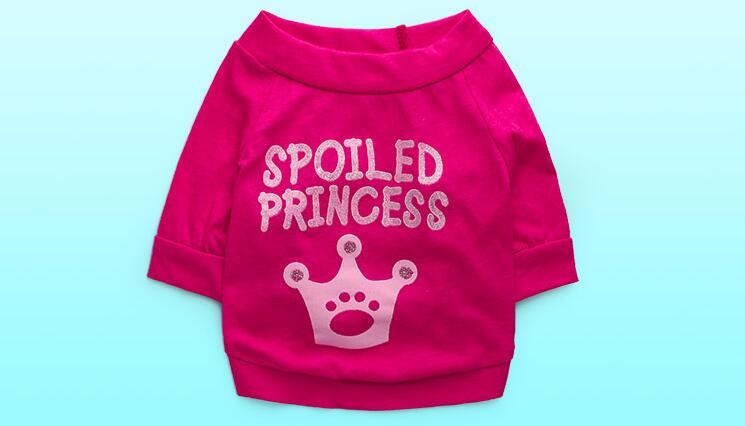 XS-L dogs cats fashion summer vest clothes doggy cute princess t shirt costume pet dog cat suit 1pcs