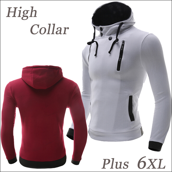 6XL Oversized Hoodie Jacket Men Sweatshirts Hottest Sale Side Zip ...