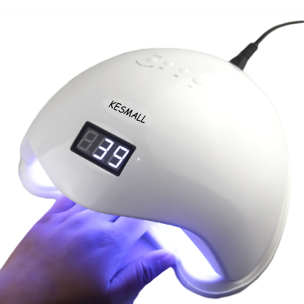 KESMALL 48W UV LED Nail Lamp Nails Dryer Machine Gel Polish Curing Light with Bottom Timer Nail Art Tools Universal Plug NLSN5 cnhids professional nail dryer uv light 24w 9c led uv 132 color lamp manicure pedicure machine nails uv gel polish nail art