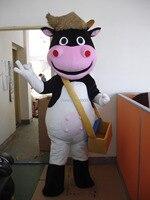 Лидер продаж Рождество прекрасный корова талисмана для взрослых Необычные платья Charactor вечерние талисмана Бесплатная доставка