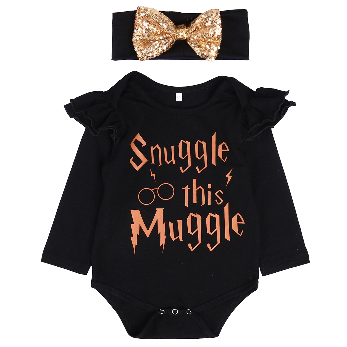 Snuggle this Muggle Newborn Baby Girls Romper Clothes Long Sleeve Infant Bebes Inspired Onesies Outfit Sunsuit вибромассажер мини snuggle bug фиолетовый