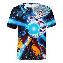 2019 Summer Fashion Boys TShirt Dragon Ball Super Kids 3D Print Cartoon T shirt For Girls Children Clothes