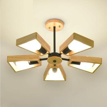 Lampade a sospensione moderna lampadario in legno lampadina lampadari di illuminazione per sala da pranzo camera da letto luci