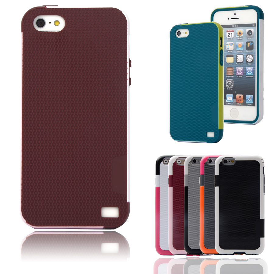 candy double color armor soft tpu hybrid back case for apple