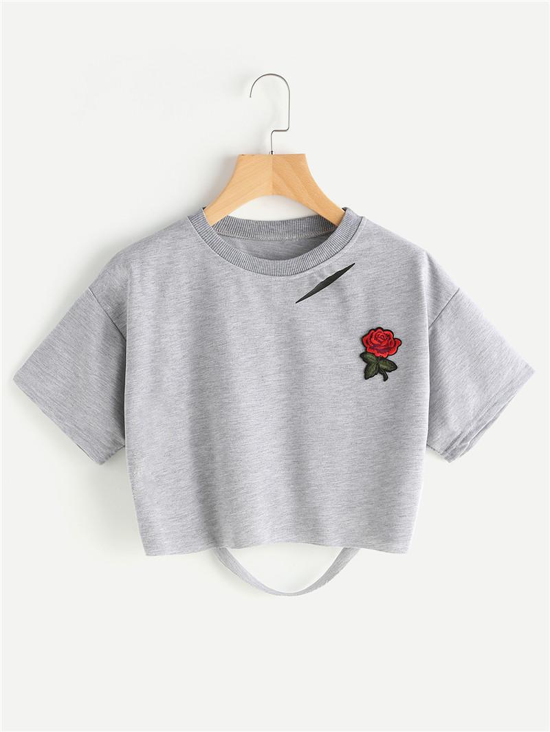 HTB1A.ltQVXXXXXiXXXXq6xXFXXXk - Women Summer T-shirts Alien Embroidery PTC 103