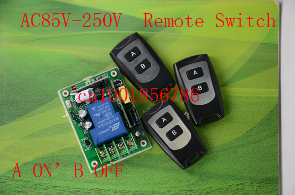 AC85V-250V 110V 220V 1CH RF Wireless Remote Control Switch System 1Receivers&3Transmitter adusted Learning Code Gateway Access 2 receivers 60 buzzers wireless restaurant buzzer caller table call calling button waiter pager system
