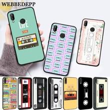 WEBBEDEPP retro classic cassette Design Silicone Case for Huawei P8 Lite 2015 2017 P9 2016 Mimi P10 P20 Pro P Smart 2019 P30