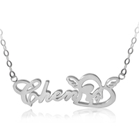 20/5000 Name pendant sterling silver necklace female elders gift Christmas