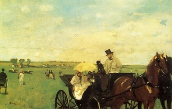 High quality Oil painting Canvas Reproductions A Carriage at the Races (1872)  By Edgar Degas hand painted