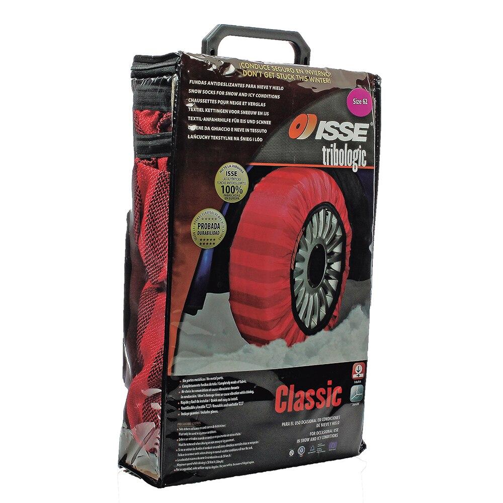 Automobiles ISSE Textile chaînes à neige pour voitures Alternative antidérapant tissu pneu chaîne chaussettes Traction pour neige et glace voiture neige - 4