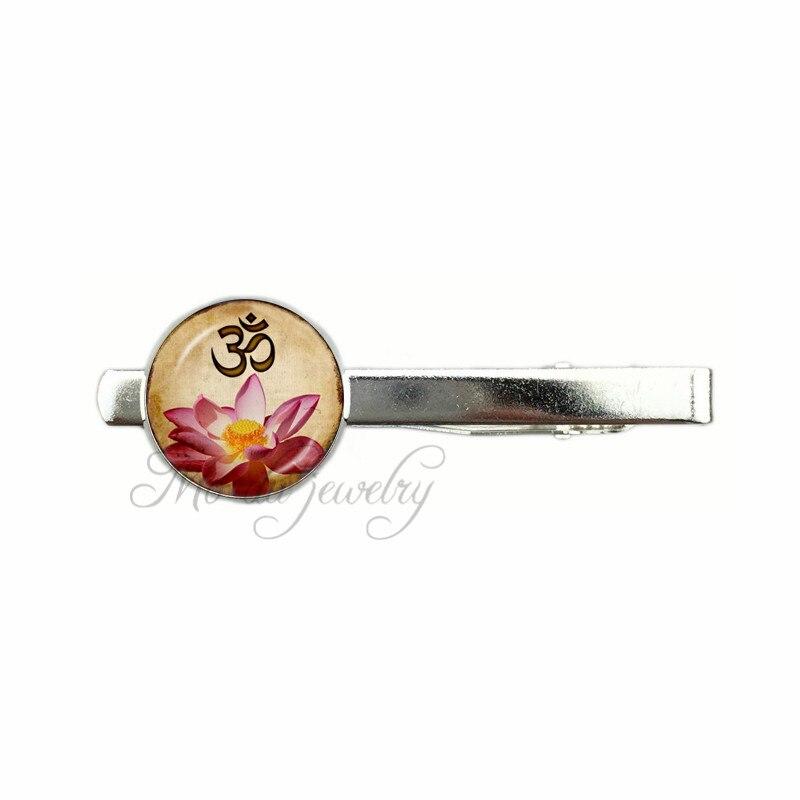 Casual Yoga OM Pendant Tie clips Namaste Jewelry Ethnic MandalaTie clips Buddhism Zen Meditation India Jewellery