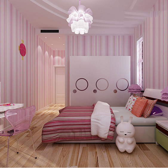 Girls Room Pink And Blue Stripe Wallpaper And Papel De Parede Kids First  Choice By FREE SHIPPING In Wallpapers From Home Improvement On  Aliexpress.com ...