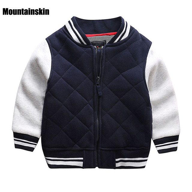 New Baseball Coats Kids Jackets Casual Boys Warm Outerwear Winter 1-7Y Children's Brand Clothes High Quality Boys Tops SC740