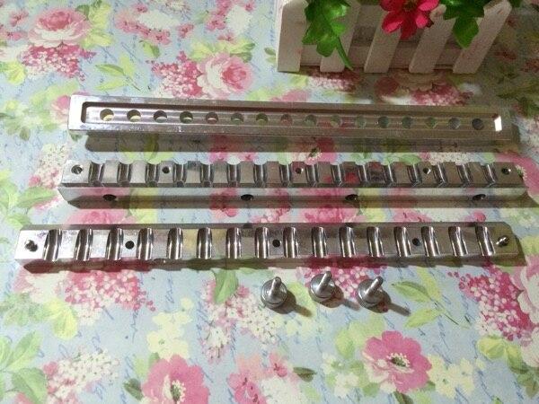 En aluminium rouge à lèvres moule 12 cavités pour BRICOLAGE baume pour les lèvres de remplissage siut pour 9mm dia tube