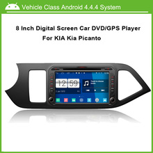 8 Inch Android Car DVD Player for Kia Picanto 2012 GPS Navigation Multi-touch Capacitive screen,1024*600 high resolution