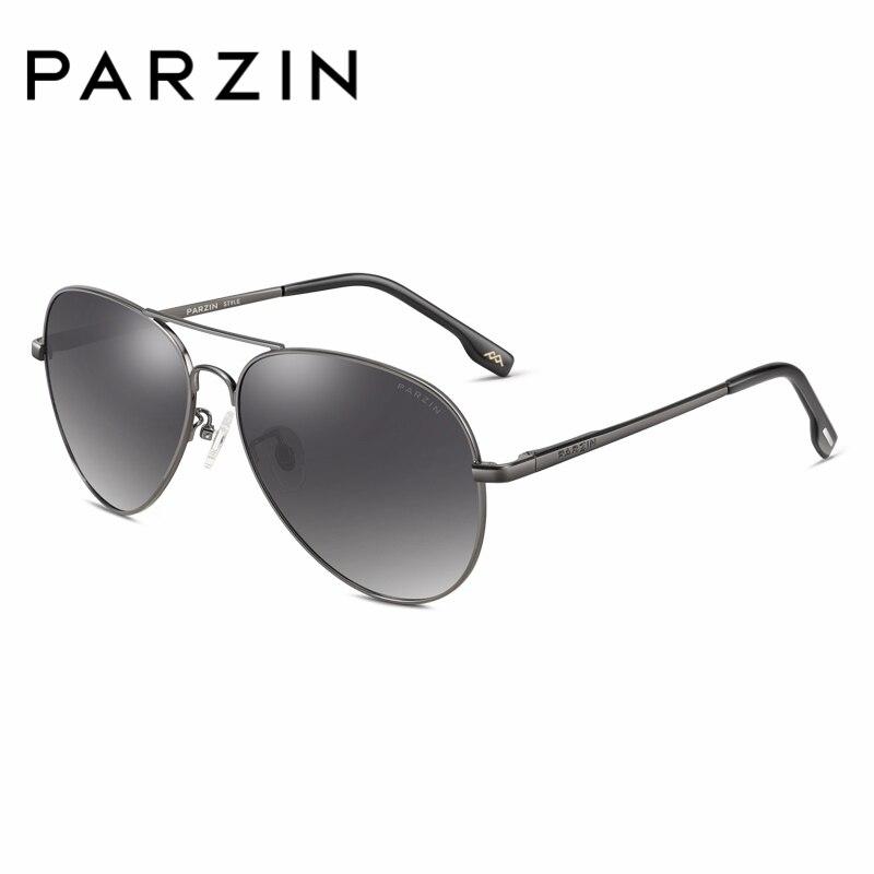 PARZIN ÓCULOS de Marca Óculos Polarizados dos homens Com Caixa de 2018 Nova  Moda Elegante óculos 1f85a6e379